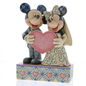 Two Souls, One Heart Mickey & Minnie Wedding Figurine