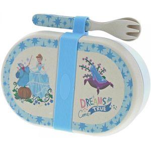 Disney Enchanting Organic Bamboo Snack Box & Cutlery - Cinderella