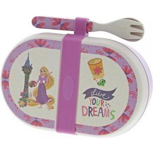 Disney Enchanting Organic Bamboo Snack Box & Cutlery Set - Rapunzel