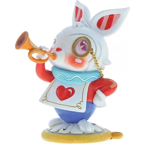 THE WHITE RABBIT FROM ALICE GLASS PAPERWEIGHT IN GIFT BOX HAND PAINTED IN UK