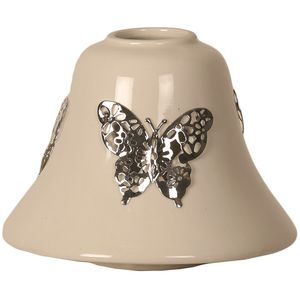 Aroma Jar Candle Lamp Shade: Metallic Butterfly