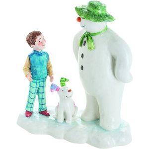 John Beswick The Snowman & Snowdog: Lets go Figurine