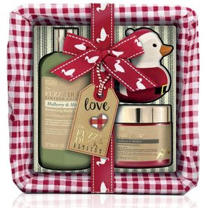 Bayliss & Harding The Fuzzy Duck Wicker Basket Gift Set - Mulberry & Mistletoe