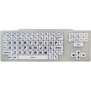 Easy2Use Visually Impaired Keyboard (Hi Vis Black & White)