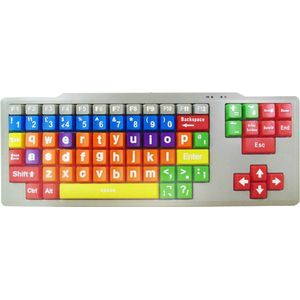 Easy2Use Kids High Contrast PC Keyboard (Lower Case Large Keys)
