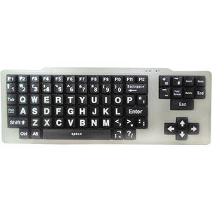 Easy2Use Visually Impaired Keyboard (White/Black Upper Case)