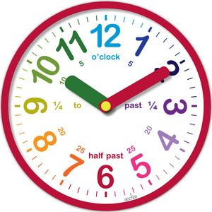 Acctim Lulu Teach Time Clock (Red)