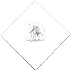 Wedding Napkins - Bride & Groom Design Qty15