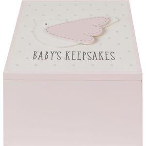 Petit Cheri (pink) Babys Keepsake Box