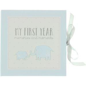 Petit Cheri Baby Record Book - My First Year (Blue)