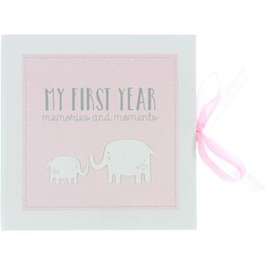 Petit Cheri Baby Record Book - My First Year (Pink)
