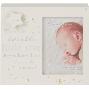 "Bambino Musical Photo Frame 4x6"" - Twinkle Twinkle Little Star"