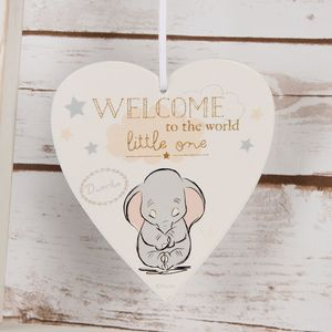 Disney Magical Beginnings Heart Plaque - Dumbo Welcome to the World Little One