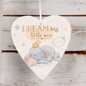 Disney Magical Beginnings Heart Plaque - Dumbo Dream Big Little One