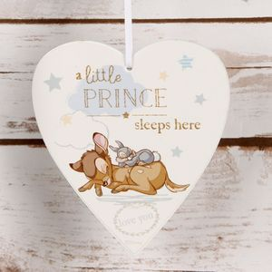 Disney Magical Beginnings Heart Plaque - Bambi & Thumper Little Prince
