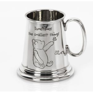Disney Classic Pewter Pooh & Eeyore Mug