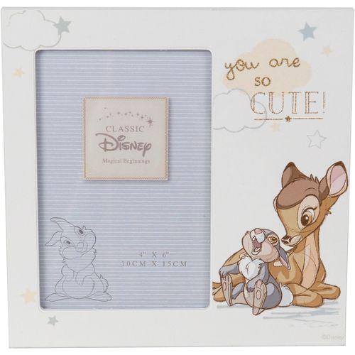 "Disney Magical Beginnings Photo Frame - Bambi Holds One 4"" x 6"" Photograph"
