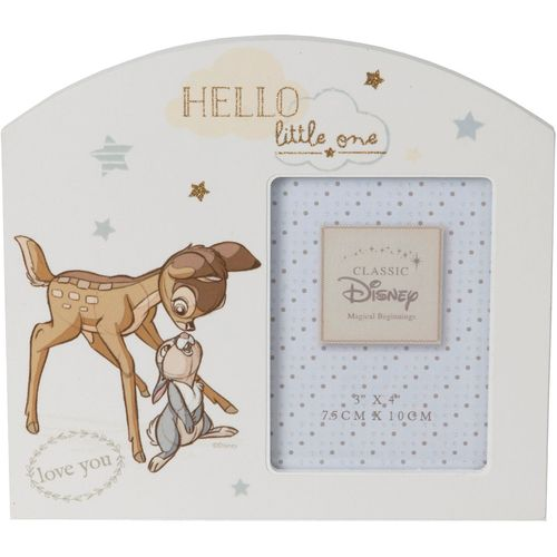 """Disney Magical Beginnings Arch Photo Frame - Bambi & Thumper Holds One 3"""" x 4"""" Photograph"""