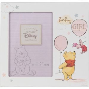 "Disney Magical Beginnings Photo Frame 4x6"" - Pooh (Baby Girl)"