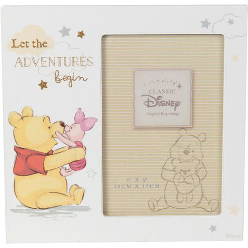 """Disney Magical Beginnings Photo Frame - Pooh Adventures Holds One 4"""" x 6"""" Portrait Photograph"""