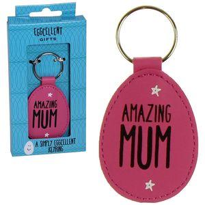 Eggcellent Pink Keyring - Amazing Mum