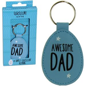 Eggcellent Blue Keyring - Awesome Dad