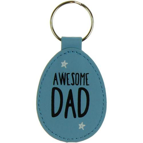 Eggcellent Blue Keyring - Awesome Dad