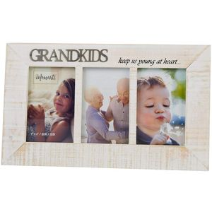 Moments - Triple Wooden Photo Frame - Grandkids