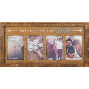 "Celebrations Moments Wooden Multi Photo Frame 4x6"" - Friends"
