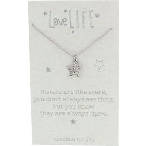 Celebrations Love Life Sentiment Necklace - Sister