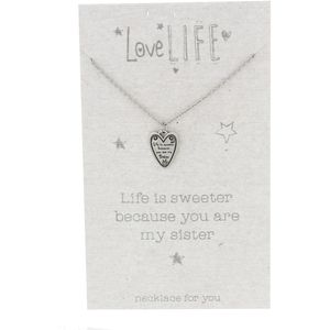 Love Life Necklace - You Are My Sister