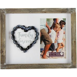 "New View Pebble Art Photo Frame 4"" x 6"" - Family Forever"