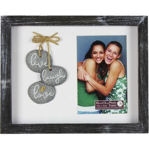 Pebble Art Photo Frame - Live Laugh Love