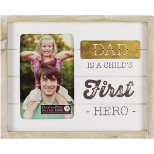 Box Photo Frame - Dad is a Childs First Hero