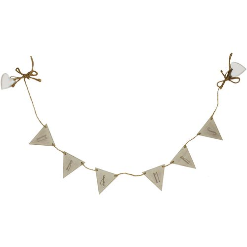 Celebrations Love Story Wooden Bunting - Mr & Mrs