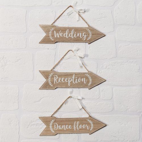 Celebrations Love Story Set of 3 Arrows -  Wedding - Reception - Dance Floor