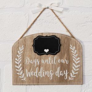 Love Story Plaque - Countdown to Our Wedding