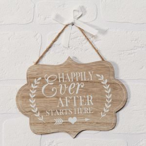 Celebrations Love Story Plaque - Happily Ever After