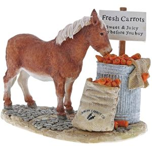 Border Fine Arts Studio Collection Kitchy & Co Figurine - Pony Crunchy Carrot Co
