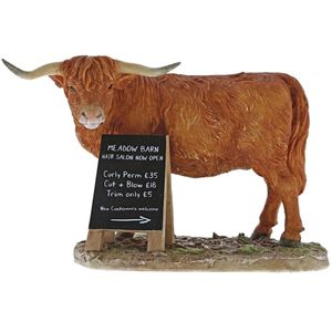 Kitchy & Co Meadow Barn - Highland Cattle Figurine