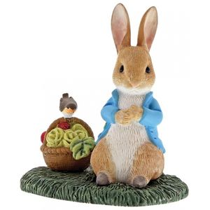 Peter Rabbit with Basket Miniature Figurine