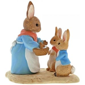 Mrs Rabbit Flopsy & Peter Miniature Figurine