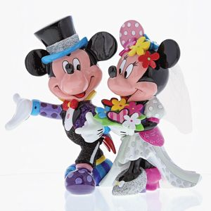 Disney Britto Mickey & Minnie Mouse Wedding Figurine