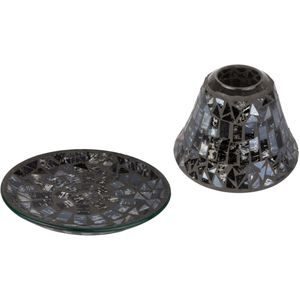 Cello Jar Candle Shade & Plate Set: Midnight