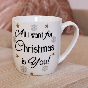 Festive Ceramic Mug - All I Want For Christmas is You