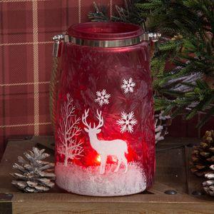 Large Red Glass Lantern