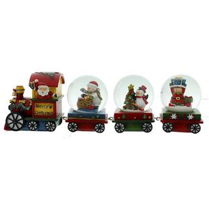 Christmas Train & Carriages snow globes