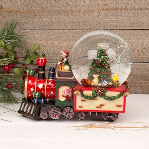 Musical Christmas Snow Globe - Train