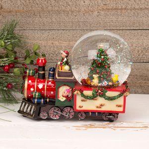 Musical Christmas Train Snow Globe