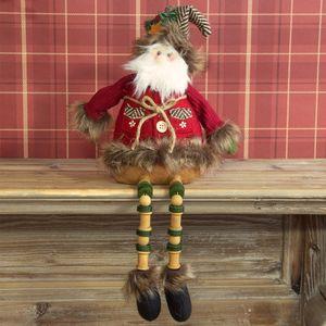 Christmas Decoration - Sitting Fabric Santa